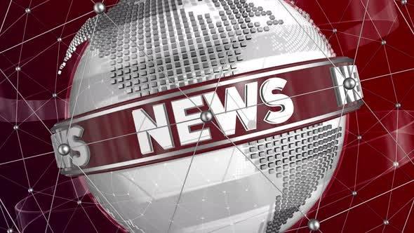 Broadcast News Looping Background Seamless Loop