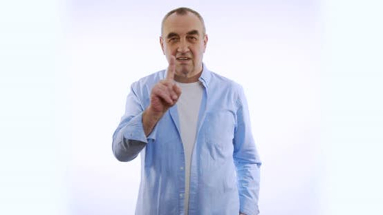 Thumbnail for Man Saying No By Waving His Finger on White Background.
