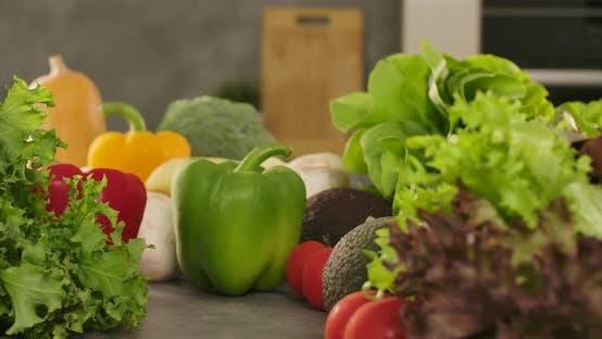 Green Paprika and Veggies