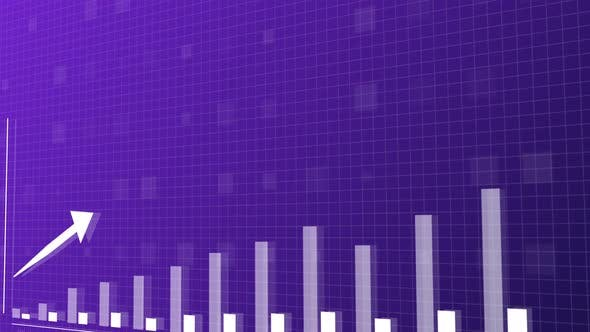 Thumbnail for Blue and purple upwards bar graph