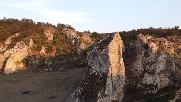 Rocks In Dobrogea Gorges, Romania