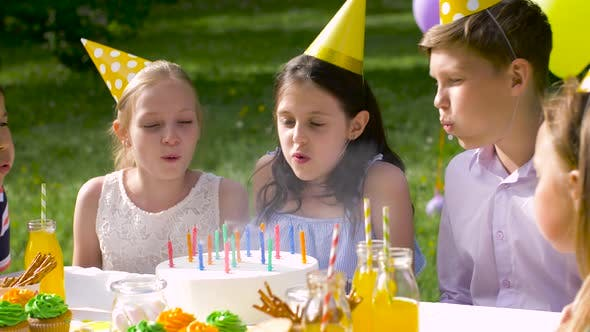 Thumbnail for Happy Kids on Birthday Party at Summer Garden