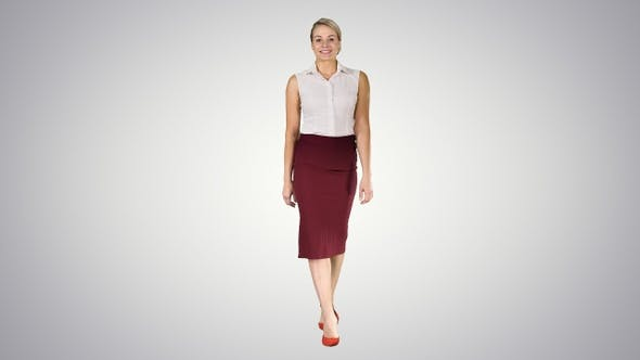 Thumbnail for Beautiful Sexy Brunette Woman Business Office Style Fashion