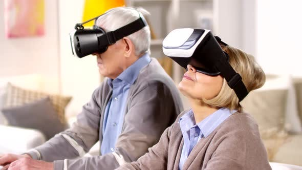 Thumbnail for Aged Man and Woman Using Modern Technologies