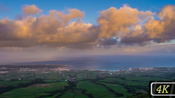 Cover Image for Evening Panorama on Terceira Island