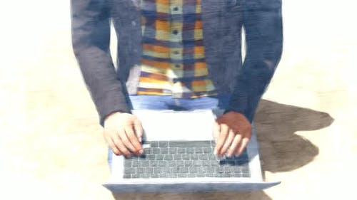 Verwenden von Laptop Stop Motion