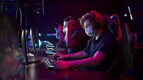 Whiteskinned and Blackskinned Guys are Members of an Esports Online Strategy Crew