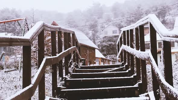 Thumbnail for Wooden Footbridge in Winter.