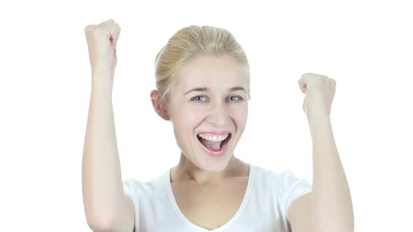 Thumbnail for Woman Cheering and Celebrating successful