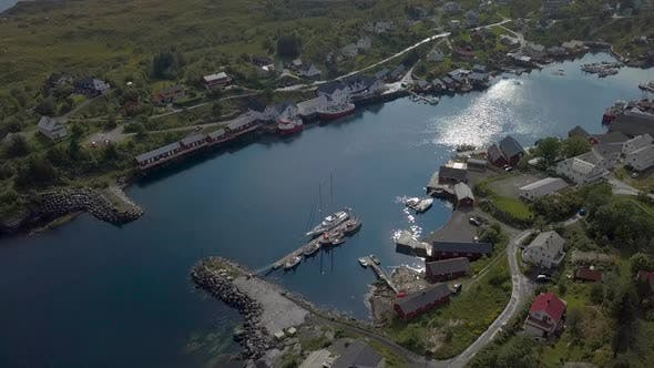 Thumbnail for Aerial View of Small Village in Norway, Sorvagen
