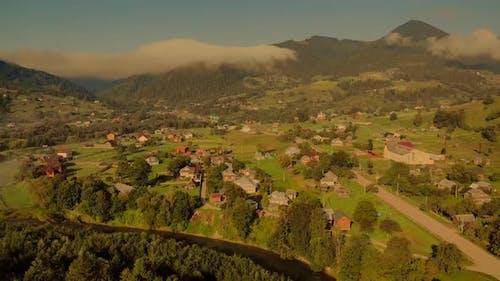 Morning in Carpathian Mountains Ukraine