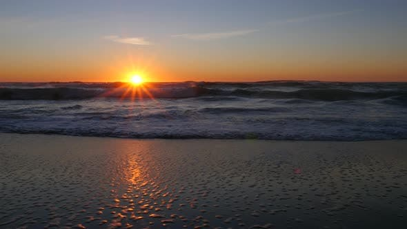 Thumbnail for Sunset at beach, Lincoln City, Oregon