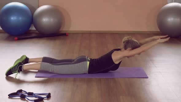 Thumbnail for Girl Doing Physical Exercises Strong Rear