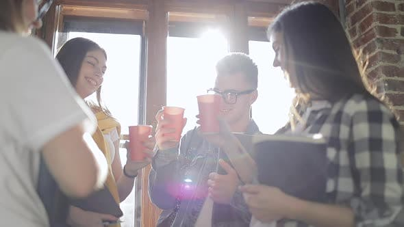 Thumbnail for Group of Friend Having Good Time While Drinking