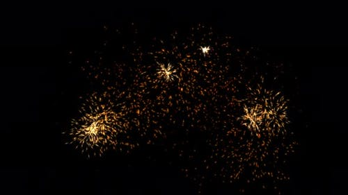 Orange Yellow Red Sparks on Black Explosion Effect