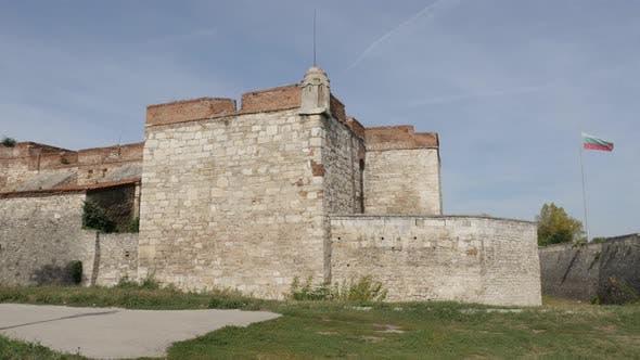 VIDIN, BULGARIA - OCTOBER 10, 2017 Walls and towers of Krepost Baba Vida fortress in  northwestern B