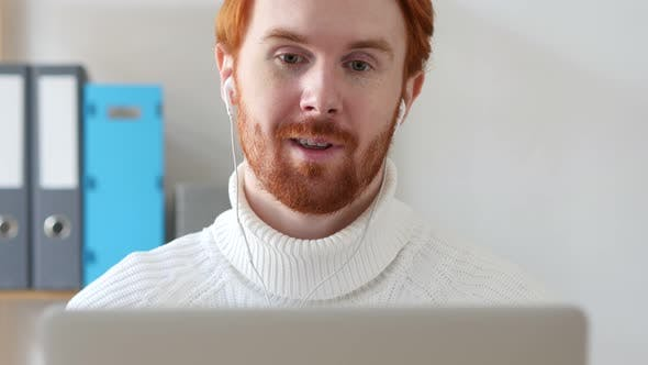 Thumbnail for Man with Red Hairs Video Chat, Talking Online