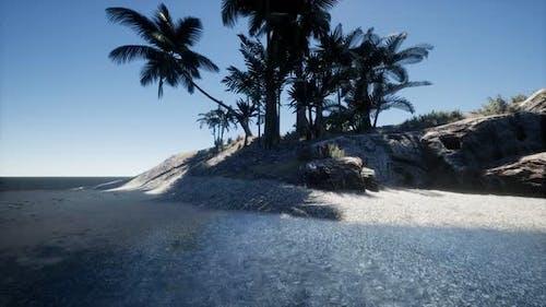 Tropical Island of Maldives in Ocean