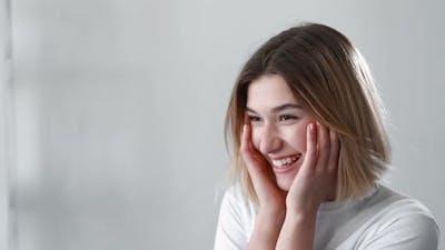 Fresh Face Model Natural Beauty Smiling Woman