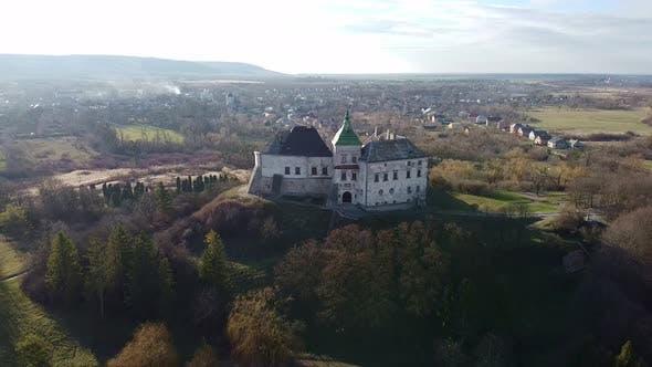 Cover Image for Ukraine Castle in Olesko Aerial, Oleskiy Zamok