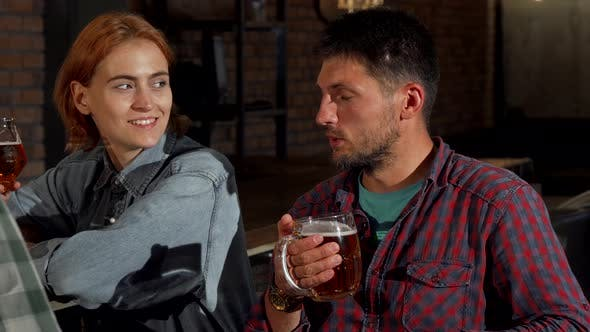 Thumbnail for Gorgeous Happy Woman Smiling To the Camera While Drinking with Her Friends