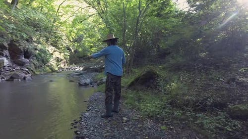 Fishing In Wide River