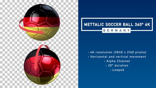 Metallic Soccer Ball 360º 4K - Germany