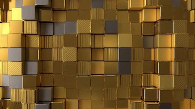 Golden Boxes Background
