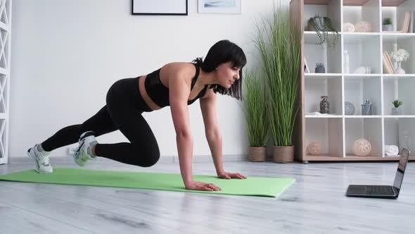 Home Fitness Female Sport Online Training Strong