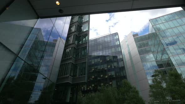 Thumbnail for Low angle view of glass buildings