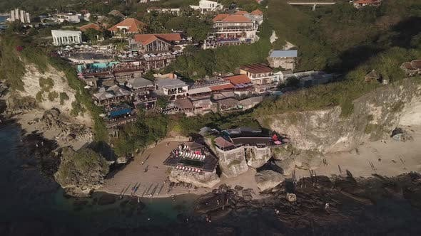 Thumbnail for Aerial View of Famous Party Place Single Fin in Uluwatu.
