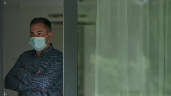 Elegant Man in Face Mask