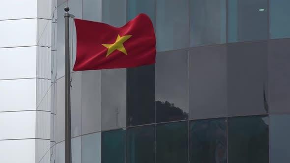 Vietnam Flag Background 4K