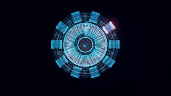 Arc Reactor Hologram Rotating 4k