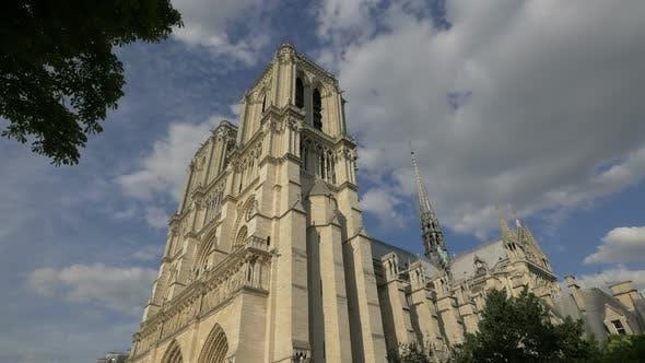 Low angle of the NotreDame de Paris