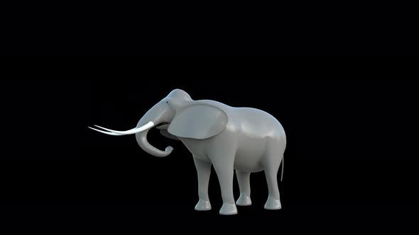 Thumbnail for Plastic Toy Elephant Eat 4K