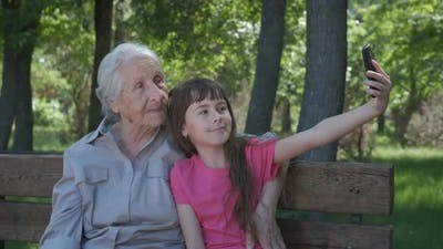 Photo with Grandmother.