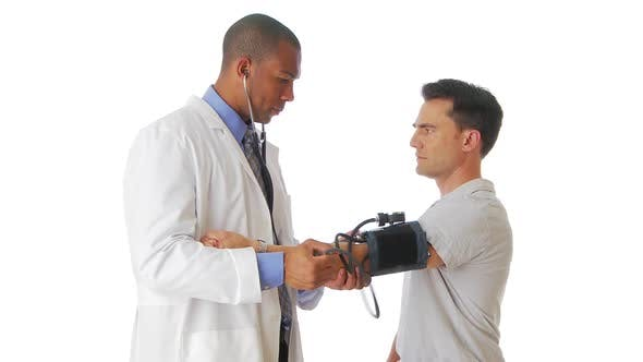 Thumbnail for Doctor checking blood pressure on patient