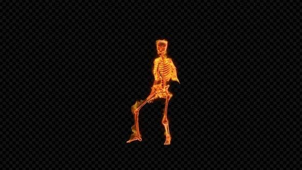 Fiery Skeleton Greasy Dance