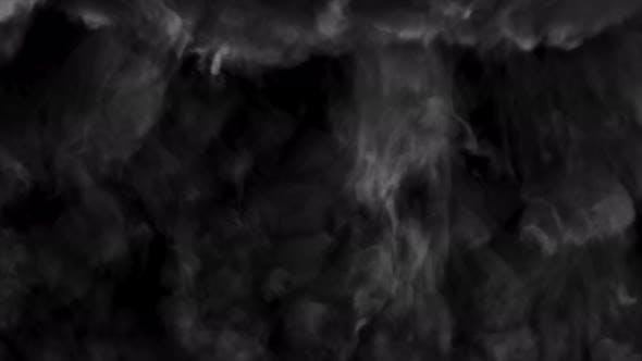 Black and White Smoky Swirly Wall Rises Up