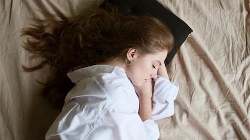 Young Girl Sleeping, Peaceful Sleep