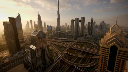 Cityscape Metropolis Urban City Center Area