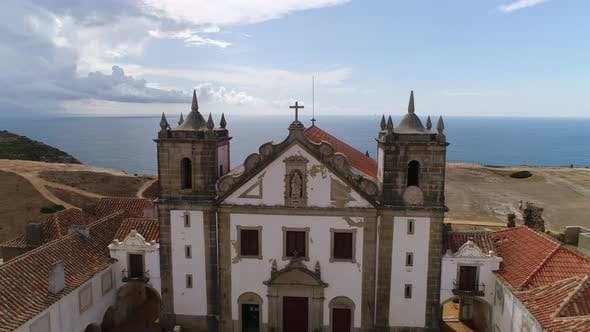 Cover Image for Aerial View of Beautiful Monastery Near Sea
