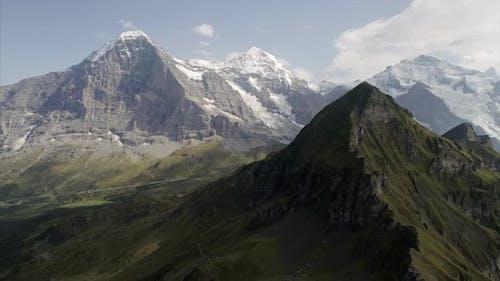 Mannlichen Mountain Flying Towards Jungfrau Switzerland