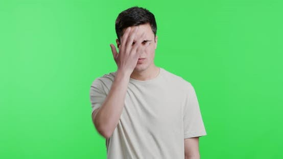 Thumbnail for Displeased Young Man Man Showing Facepalm Gesture