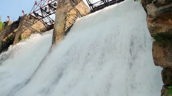 Thumbnail for Water Dam - Heavy River Water Stream Falls Down - Nature