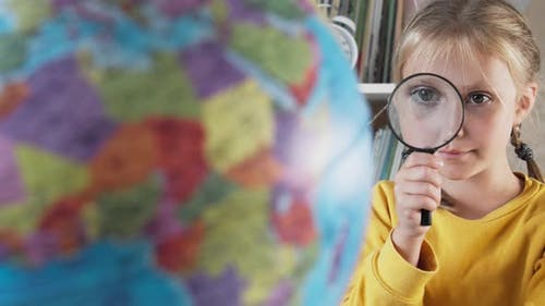 The Child Looks at the Globe