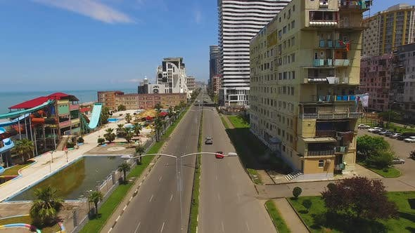 Cover Image for Seafront Boulevard in Batumi Georgia with Multistoried Buildings on One Side