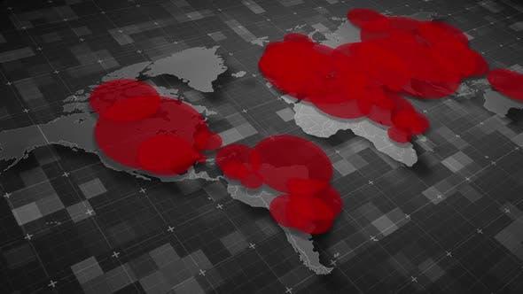 Thumbnail for COVID19 Coronavirus Epidemic - World Population Map 02 - HD
