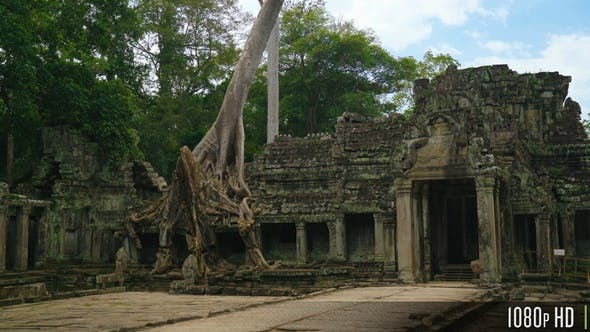 Thumbnail for Old Stone Ruins of Preah Khan Temple in Siem Reap, Cambodia